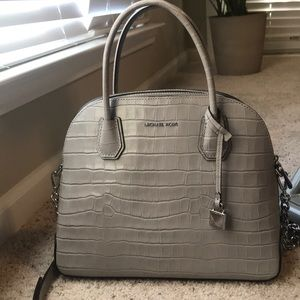 Michael Kors Spring 2018 Grey Alligator Purse
